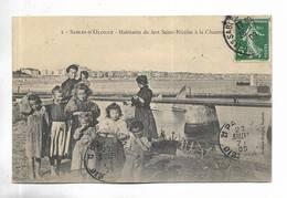 85 - Sables-d'Olonne - Habitants Du Fort Saint-Nicolas à La Chaume. Belle Animation. - Sables D'Olonne