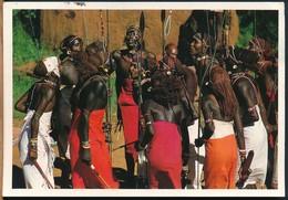 °°° 14804 - KENYA - SAMBURU WARRIORS - 1998 With Stamps °°° - Kenia