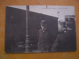 Cpa M Clemenceau Arrivant à La Gare De Lens Gros Plan - Lens