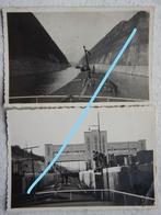 Photox2 EBEN EMAEL LANAYE Canal Albert Albert Kanaal Péniche Binnenscheepvaart Circa 1939 - Places