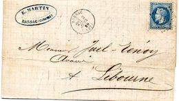Gironde - LAC Affr  N° 29B Obl GC 331 C 16 Barsac - Marcophilie (Lettres)