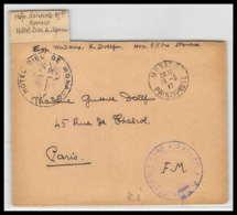 52825 Monaco 1917 Hopital Benevole 85 Bis Sante Guerre 1914/1918 War Devant De Lettre Front Cover - Postmark Collection (Covers)
