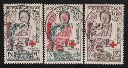 LAOS - N°25/7 Obl (1953) Croix Rouge - Laos