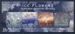 AUSTRALIAN ANTARCTIC TERRITORY * 2016 * M/Sheet (4 Stamps) * MNH** Ice Flowers - Mi.No BL19 - Briefmarken