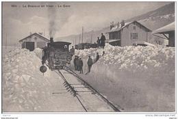 5106 - Vallée De Joux Le Brassus En Hiver La Gare Et Le Train - VD Waadt