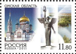 Russia. 2011 Regions. Omsk Region. - 1992-.... Fédération
