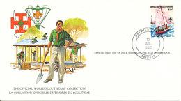 Ivory Coast FDC Card 10-7-1982 World Scout Stamp Collection With Nice Cachet - Scoutisme