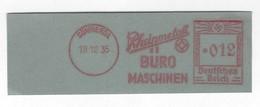 Deutschtes Reich AFS - SÖMMERDA, Rheinmetall - BÜROMASCHINEN 1935 - Machine Stamps (ATM)