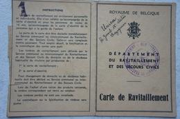 Carte De Ravitaillement TRAZEGNIES 1940 Irma Catrot Rue Verte - Vieux Papiers