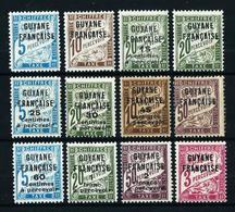 Guayana (Francesa) Nº Tasa-1/12 Nuevo*/(*) - French Guiana (1886-1949)