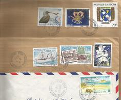 7 Timbres Oblitérés En 1995 Avec Enveloppes, Depuis NOUMEA Nouvelle Calédonie - New Caledonia