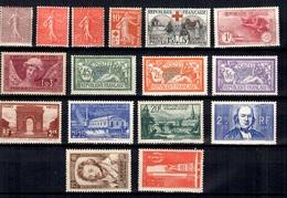 France Belle Petite Collection De Bonnes Valeurs Neufs * 1903/1938. B/TB. A Saisir! - France