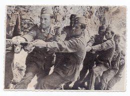 WWII, GERMAN TROOPS IN BOSNIA, TUG OF WAR, ORIGINAL PHOTOGRAPH - Bosnia And Herzegovina