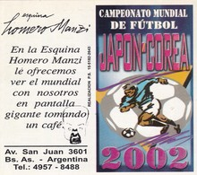 FIXTURE - CAMPEONATO MUNDIAL DE FUTBOL JAPON-COREA 2002. FIFA WORLD CUP FOOTBALL JAPAN KOREA. FROM ARGENTINA.  -LILHU - Documentos Antiguos