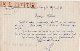 Courrier 1943 / Rationnement / Cordonnier Amancey Doubs / Tickets Chaussures Usage Travail Et 5 Tickets-tige - 1939-45
