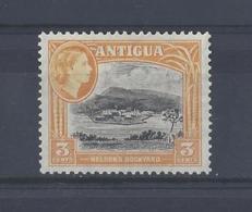"""ANTIGUA....QUEEN ELIZABETH II.(1952-NOW)...."""" 1953 """"......3c......SG123.........MH.. - Antigua & Barbuda (...-1981)"""