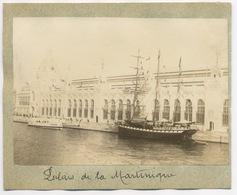 E161 Photographie Originale Paris Vers 1900 Exposition Universelle Palais De La Martinique Bateaux - Ancianas (antes De 1900)