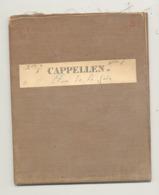 Carte De Géographie Toilée - CAPPELLEN 1868- Levée Et Nivelée 1863 (b271) - Cartes Géographiques