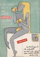 CPM  (75) PARIS Cartexpo 1985 Exposition Erotisme Et Pornographie Femme Women Sexe Llustrateur Ch. LESUEUR  (2 Scans) - Borse E Saloni Del Collezionismo