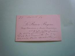 Carte De Visite Autographe Baron EUGENE BEYENS (1816-1894) Diplomate Belge 1880 - Autographs