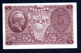 Banconota Lire 5 - 1944 - Atena - [ 1] …-1946: Königreich