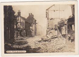 PHOTO GUERRE WW1 / HAM - RUE DE CHAUNY - War, Military
