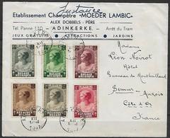 Belgien - R - Brief  01.12.1937 / Adinkerke Nach Semur En Auxois / Siehe Fotos - Bélgica