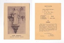 Saint Evroult, Priez Pour Nous, Neuvaine, Indulgence, Statue - Devotion Images