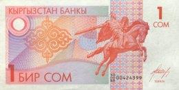 Kyrgyzstan 1 Som, P-4 (1993) - UNC - Kirguistán