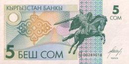 Kyrgyzstan 5 Som, P-5 (1993) - UNC - Kirguistán
