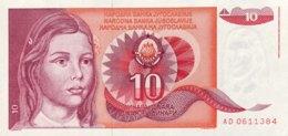 Jugoslavia 10 Dinara, P-103 (1.9.1990) - UNC - Jugoslawien