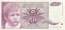 Jugoslavia 50 Dinara, P-104 (1.6.1990) - UNC - Jugoslawien