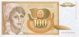 Jugoslavia 100 Dinara, P-105 (1.3.1990) - UNC - Jugoslawien