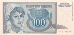 Jugoslavia 100 Dinara, P-112 (1992) - UNC - Jugoslawien