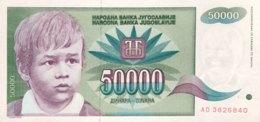 Jugoslavia 50.000 Dinara, P-117 (1992) - UNC - Jugoslawien