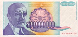 Jugoslavia 500 Million Dinara, P-134 (1993) - UNC - Jugoslawien