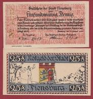 Allemagne 1 Notgeld 25 Pfenning Stadt Flensburg   Dans L 'état N °5279 - [ 3] 1918-1933 : República De Weimar
