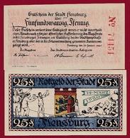 Allemagne 1 Notgeld 25 Pfenning Stadt Flensburg   Dans L 'état N °5280 - [ 3] 1918-1933 : République De Weimar