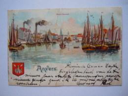 Anvers Antwerpen Haven Bassin Flamand Gelopen 1901 Kaart Geplooid En Beschadigd Carte Plié Et Abimée - Antwerpen