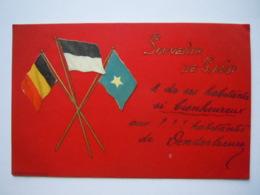 Gent Souvenir De Gand Vlaggen Drapeaux Gelopen Circulée 1900 - Gent