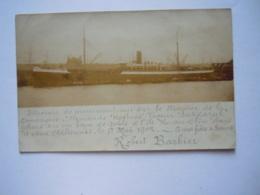 Photo Foto Steamer Sakkarah Deutsche Dampfschifffahrts-Gesellschaft Kosmos Naufrage Schiffbruch 1902 Island Huamblin - Paquebots