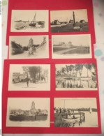 Lot 8 CPA OUISTREHAM Animation Bateau, Tramway, Yachts, Eglise, Canal, Vierge Riva Bella, La Redoute, Route Du Port - Ouistreham