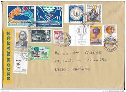 Lettre Recommandée France 1994, Tunnel Sous La Manche, Croix Rouge, Montgolfières, Pompidou... - France