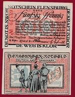 Allemagne 1 Notgeld 50 Pfenning Stadt Flensburg (RARE)  Dans L 'état N °5287 - [ 3] 1918-1933 : République De Weimar