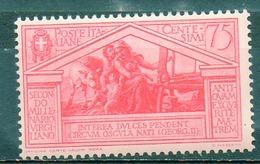ITALIE (Royaume) - 1930 - N° 268 - 75 C. Rose - (Bimillénaire De La Naissance De Virgile) - Nuovi
