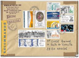 Lettre Recommandée France 1999, Braille, Tgv Atlantique, Vaux Le Vicomte, égalité, Harkis, Cnes, Hermes Dicéphale... - France