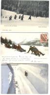Winter Sport 3 AK Partie De Luge Concours De Ski Pour Dames Damen Ski-Rennen Dimson Run 1904-08 - Zonder Classificatie