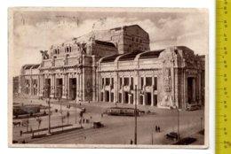 1937 MILANO Nuova Stazione Centrale FG V - Targhetta Visitate L'Italia- Tram Carrozze, Corriera, Auto SEE 2 SCANS - Milano (Milan)