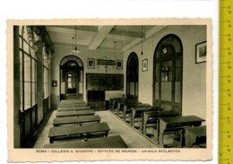 1937 ROMA Collegio S. Giuseppe Ist DE MERODE Un Aula Scolastica FG V  SEE 2 SCANS Targhetta Lott Tripoli - Enseignement, Ecoles Et Universités
