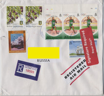 2006 British Virgin Is. Addressed Registered Cover. 7 Stamps: Olimpic Game Athens, Guavaberry, Sailing Vessel, Beef Isl. - British Virgin Islands